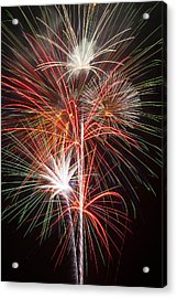Fireworks Light Up The Night Acrylic Print by Garry Gay