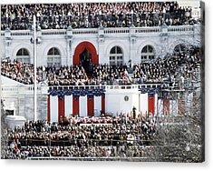 First Inauguration Of Bill Clinton Acrylic Print by Everett