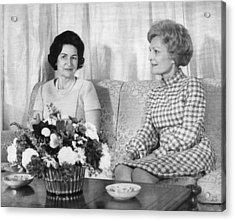 First Lady Lady Bird Johnson Meets Acrylic Print by Everett