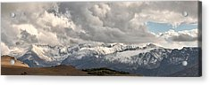 First Snow 2012 Rocky Mountains Acrylic Print by Larry Darnell
