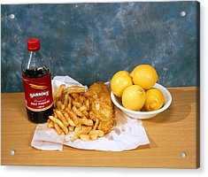 Fish And Chips Acrylic Print by Andrew Lambert Photography