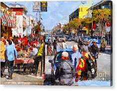 Fishermans Wharf San Francisco California . Painterly . 7d14485 Acrylic Print by Wingsdomain Art and Photography