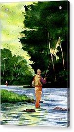 Fishin' The Hatch Acrylic Print by Jeff Mathison