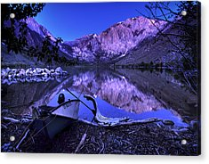 Fishing At Convict Lake Acrylic Print by Sean Foster