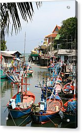 Fishing Boats Acrylic Print by Adrian Evans