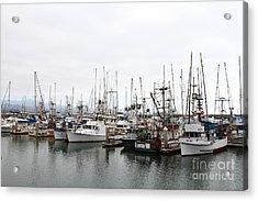 Fishing Boats In Pillar Point Harbor At Half Moon Bay California . 7d8196 Acrylic Print by Wingsdomain Art and Photography