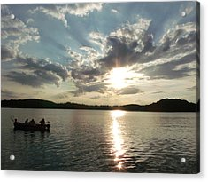 Fishing In Heaven Acrylic Print by Brian  Maloney