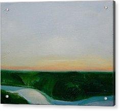 Fishing In The Midnight Sun. Acrylic Print by Ingimar Waage