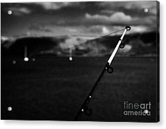 Fishing On The County Antrim Coast Northern Ireland Acrylic Print by Joe Fox