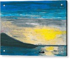 Fishing The Bay Acrylic Print by R Kyllo