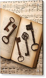 Five Old Keys Acrylic Print by Garry Gay
