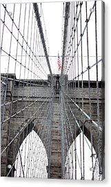 Flagging The Bridge Acrylic Print by David Bearden