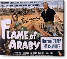 Flame Of Araby, Maureen Ohara, Jeff Acrylic Print by Everett