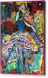 Flamenco Dancer Acrylic Print by Mindy Newman