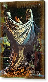 Flamenco Series No 1 Acrylic Print by Mary Machare