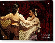 Flamenco Series No 3 Acrylic Print by Mary Machare