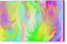 Flames Acrylic Print by Rosana Ortiz