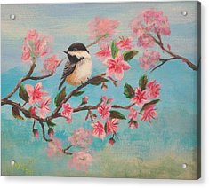 Flathead Spring Blossoms Acrylic Print by Misty Mueller