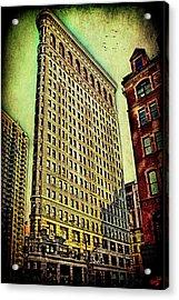 Flatiron Building Again Acrylic Print by Chris Lord