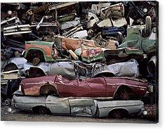 Flattened Car Bodies Acrylic Print by Dirk Wiersma