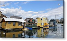 Float Houses In Victoria Canada Acrylic Print by Tanya  Searcy