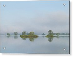 Flooded Meadows In Spring, Unteres Acrylic Print by Norbert Rosing
