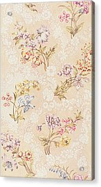 Floral Design With Peonies Lilies And Roses Acrylic Print by Anna Maria Garthwaite