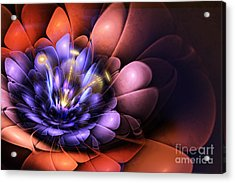 Floral Flame Acrylic Print by John Edwards