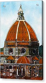 Florence Cathedral Acrylic Print by David Carlson