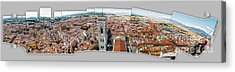 Florence Italy - Panorama -01 Acrylic Print by Gregory Dyer