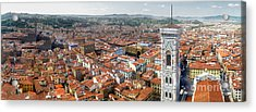 Florence Italy - Panorama -02 Acrylic Print by Gregory Dyer