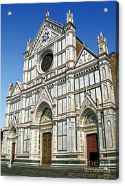 Florence Italy - Santa Croce - 02 Acrylic Print by Gregory Dyer