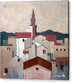 Florence Rooftops Acrylic Print by Micheal Jones