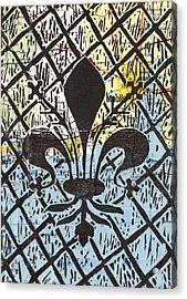 Florentine Fleur Gulfport Mobile Acrylic Print by Julia Forsyth