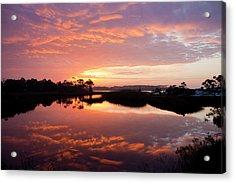 Florida Sunrise Acrylic Print by Charles Warren