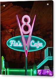 Flo's V8 Cafe - Cars Land - Disneyland Acrylic Print by Heidi Smith