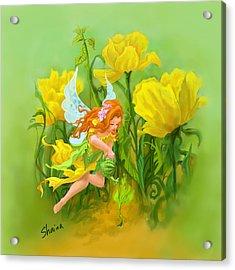 Flower Fairy Acrylic Print by Shaina  Lee