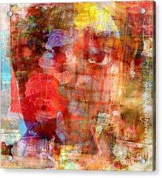 Flower Girll Acrylic Print by Fania Simon