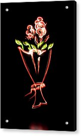 Flower Acrylic Print by Mxing Photography