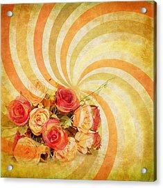Flower Pattern Retro Style Acrylic Print by Setsiri Silapasuwanchai