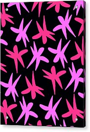 Flower Stars  Acrylic Print by Louisa Knight