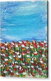 Flowers In Garden Acrylic Print by Yvo Tenerife