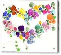 Flowers In My Heart Acrylic Print by Darlene Flood