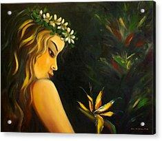 Flowers Of Paradise Acrylic Print by Gina De Gorna