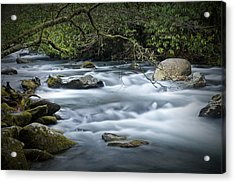 Flowing Stream In The Smokey Mountains No.312 Acrylic Print by Randall Nyhof
