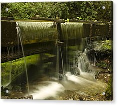 Flowing Water From Mill Acrylic Print by Andrew Soundarajan