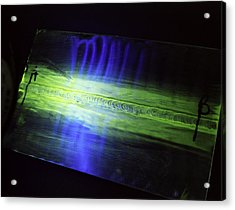 Fluorescent Dye Penetrant Test Results Acrylic Print by Paul Rapson