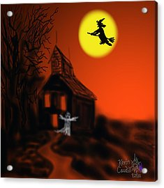 Fly By Night Acrylic Print by Kevin Caudill