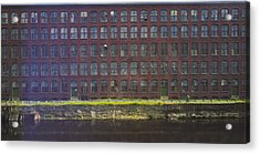 Fly Fishing Lawrence Canal Acrylic Print by Jan W Faul