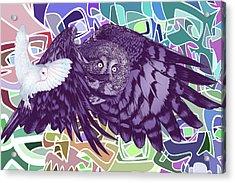 Flying Over Skulls Acrylic Print by Nelson Dedos Garcia